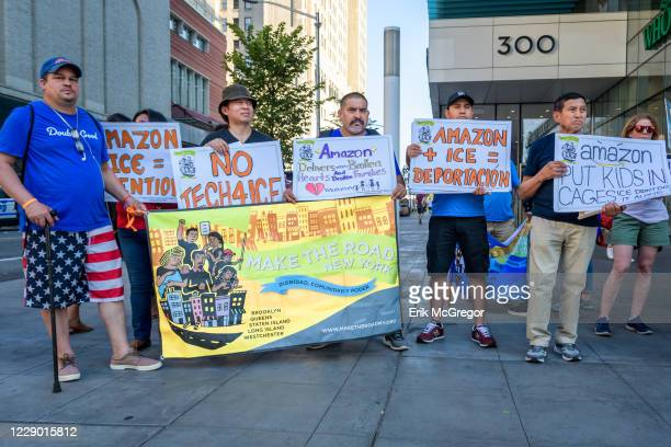 Neighbors, local parents, immigrant workers and their children gathered together for a demonstration in front of Whole Foods Market in Brooklyn to...