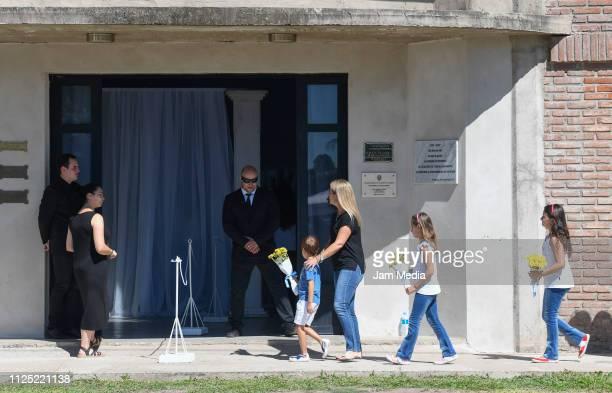 Neighbors of Emiliano Sala's family arrive to a vigil at Sala's boyhood club San Martin de Progreso on February 16 2019 in Progreso Argentina...