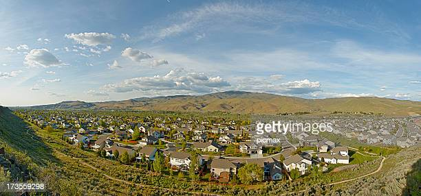 neighbourhood   panorama - idaho stock pictures, royalty-free photos & images
