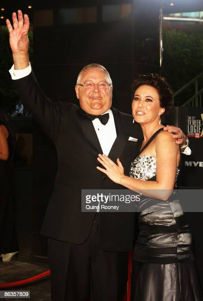Neighbours actors Ian Smith and Kym Valentine arrive for the 51st TV Week Logie Awards at the Crown Towers Hotel and Casino on May 3 2009 in...