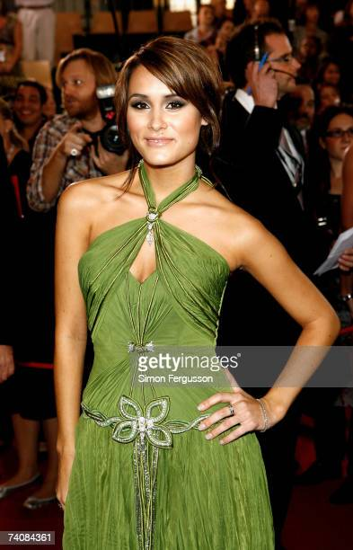Neighbours actress Natalie Blair arrives at the 2007 TV Week Logie Awards at the Crown Casino on May 6 2007 in Melbourne Australia The annual...
