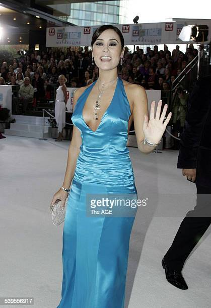 'Neighbours' actress Natalie Blair arriving at the Logies at the Crown Casino in Melbourne 1 May 2005 THE AGE Picture by ANGELA WYLIE