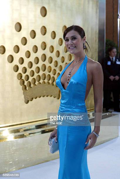 'Neighbours' actress Natalie Blair on the white carpet at the Logies at the Crown Casino in Melbourne 1 May 2005 THE AGE Picture by PENNY STEPHENS