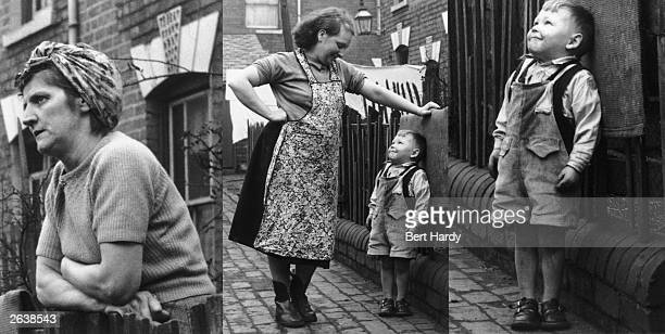 Neighbours chatting at the fence outside their 'back to back' houses in Vaughton Street Birmingham Original Publication Picture Post 6979 The Best...