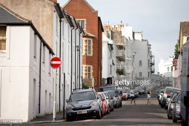 Neighbours interact in the road on May 09 2020 in Hove England On Sunday February 2nd 2020 businessman Steve Walsh reported symptoms of the...