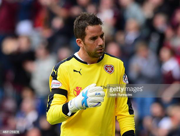 Neil Alexander of Hearts in action during the Ladbrokes Scottish Premiership match between Heart of Midlothian FC and St Johnstone FC at Tynecastle...