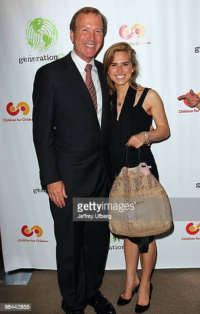 Neil and Ashley Bush attend the 9th annual The Art Of Giving benefit by Children For Children at Christie's on April 13 2010 in New York City