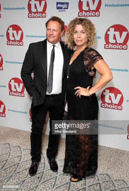 Neil and Sally Ann Stuke arrive for the TV Choice Awards at The Dorchester on September 4 2017 in London England