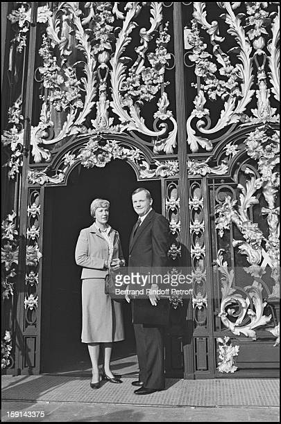 Neil Armstrong and his wife Janet Elizabeth Shearon in Paris in 1979
