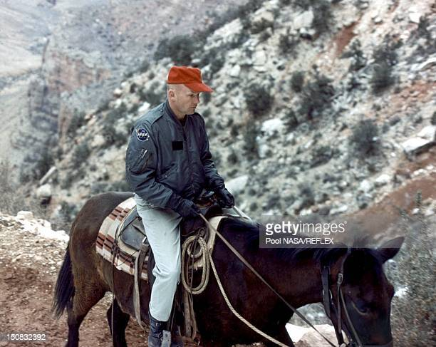 Neil Armstrong during geological training in Grand Canyon Arizona in 1964