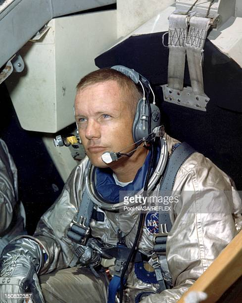 Neil armstrong during training activity in 1966