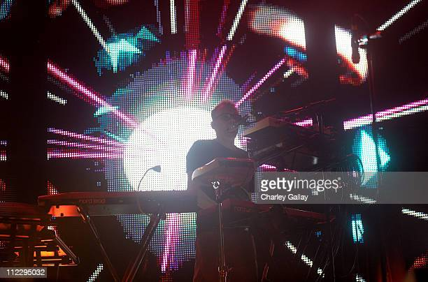 Neil Barnes of Leftfield performs during Day 3 of the Coachella Valley Music Arts Festival 2011 held at the Empire Polo Club on April 17 2011 in...
