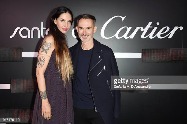 Neil Barrett and Benedetta Mazzini attend Cartier Legendary Thrill Cocktail Party on April 16 2018 in Milan Italy