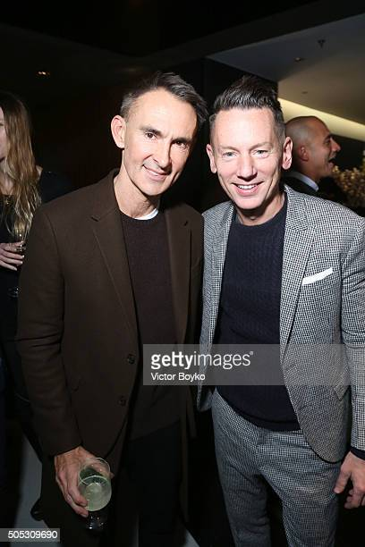 Neil Barrett and Jim Nelsom attend GQ's Celebration of GQ Style EditorInChief Will Welch during Milan Men's Fashion Week Fall/Winter 2016/2017 on...