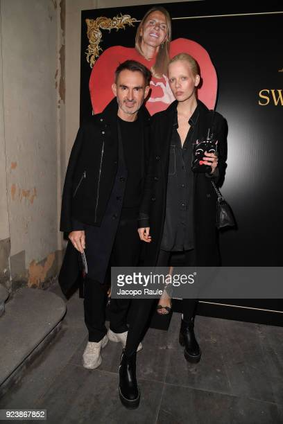 Neil Barrett and Marjan Jonkman attend the ADR Party during Milan Fashion Week Fall/Winter 2018/19 on February 24 2018 in Milan Italy