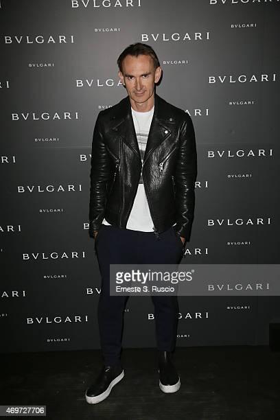 Neil Barrett attends Bulgari celebration of Design Week on April 14 2015 in Milan Italy