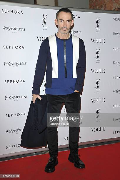 Neil Barrett attends 'Yves Saint Laurent' Premiere on March 17 2014 in Milan Italy