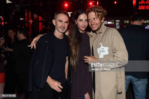 Neil Barrett Benedetta Mazzini and guest attend Cartier Legendary Thrill Cocktail Party on April 16 2018 in Milan Italy