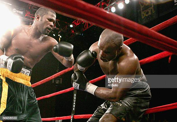 Neil Bell lands a punch to JeanMarc Mormeck during their World Cruiserweight Championship unification fight at Madison Square Garden January 7 2006...