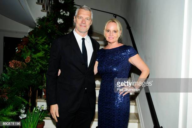 Neil Berger and Diana Kellogg attend the New York premiere of 'Phantom Thread' After Party at Harold Pratt House on December 11 2017 in New York City