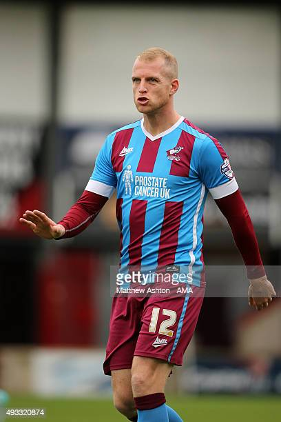 Neil Bishop of Scunthrope United during the Sky Bet League One match between Scunthorpe United and Shrewsbury Town at Glanford Park on October 17...