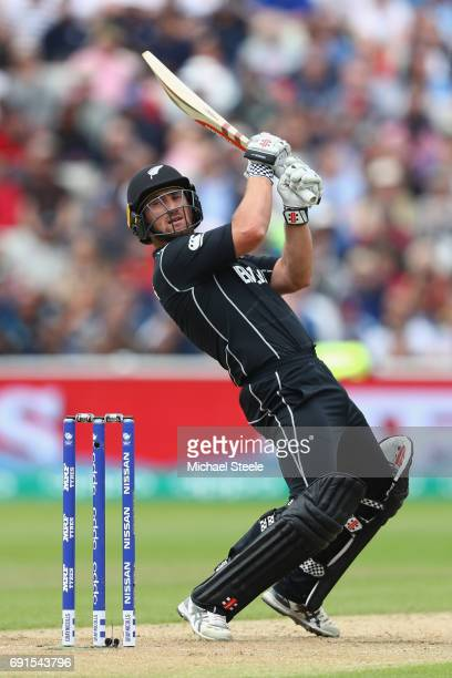 Neil Broom of New Zealand during the ICC Champions Trophy match between Australia and New Zealand at Edgbaston on June 2 2017 in Birmingham England
