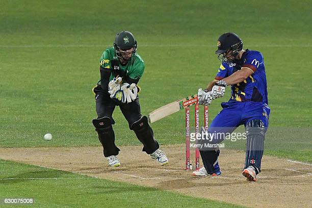 Neil Broom of the Otago Volts bats during the McDonalds Super Smash T20 match between Central Stags and Otago Volts on December 16 2016 in Napier New...