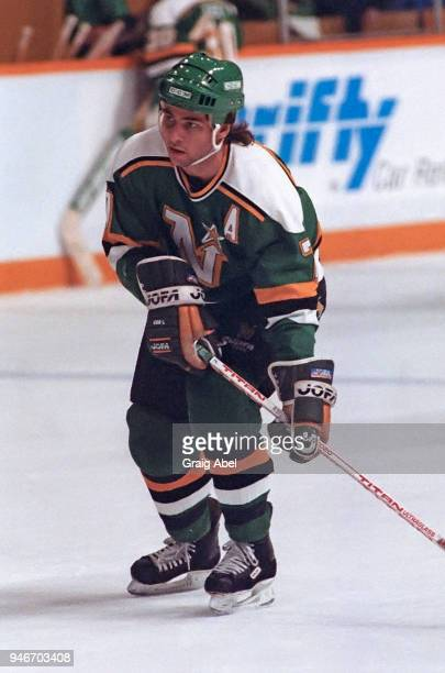 Neil Broten of the Minnesota North Stars skates against the Toronto Maple Leafs during NHL game action on March 29 1989 at Maple Leaf Gardens in...