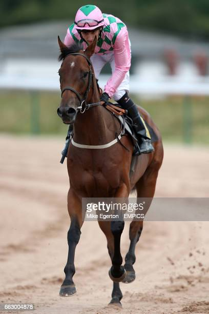 Neil Brown on To Bubbles goes to post in the Dine In Queen Mother Restaurant Maiden Stakes at Southwell Racecourse