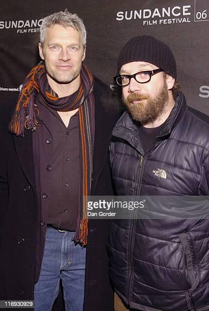 Neil Burger and Paul Giamatti during 2006 Sundance Film Festival The Illusionist Premiere at Eccles in Park City Utah United States
