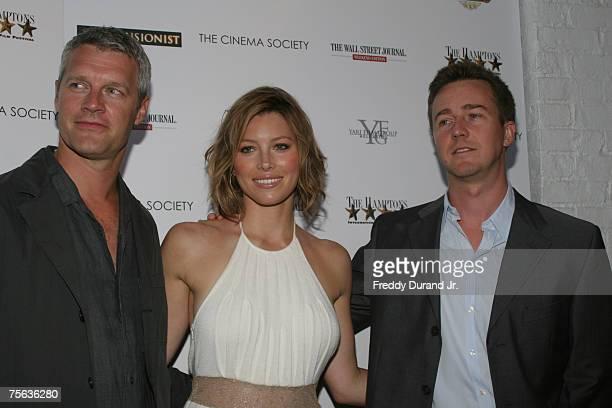 Neil Burger director Jessica Biel and Edward Norton