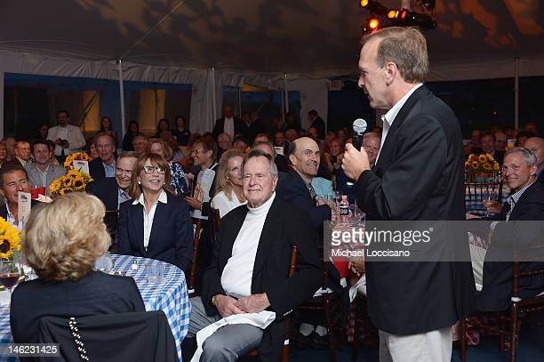 Neil Bush gives a birthday speech for his father Film Subject President George HW Bush during the celebration of George's 88th birthday and the HBO...