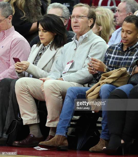 Neil Bush son of former President George HW Bush watches from court side at Toyota Center on January 22 2018 in Houston Texas NOTE TO USER User...