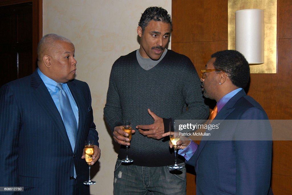 Neil Carter, Rick Fox and Spike Lee attend SPIKE LEE Celebrates 50th Birthday with KRUG Champagne at DANIEL on March 19, 2007 in New York City.