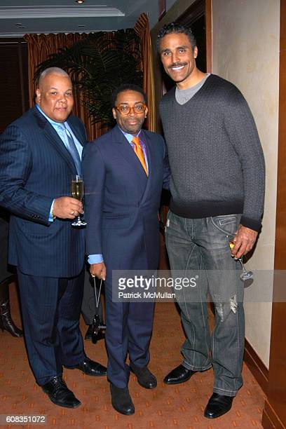 Neil Carter Spike Lee and Rick Fox attend SPIKE LEE Celebrates 50th Birthday with KRUG Champagne at DANIEL on March 19 2007 in New York City