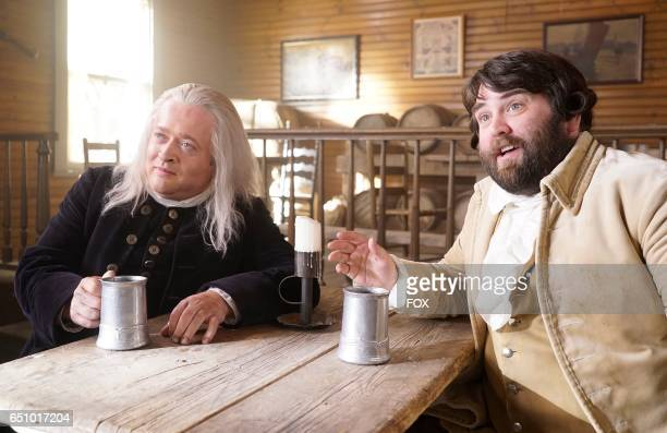 Neil Casey and John Gemberling in the 'The Shot Heard Round The World' episode of MAKING HISTORY airing Sunday March12 on FOX