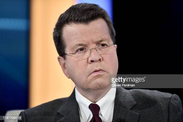 """Neil Cavuto hosts """"Your World With Neil Cavuto"""" on at FOX Business Studios November 14, 2019 in New York, United States."""