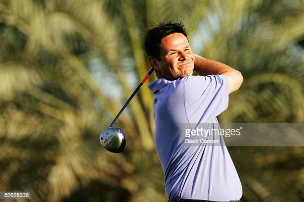 Neil Cheetham of England during the first round of the 2005 Dubai Desert Classic on the Majilis Course at the Emirates Golf Club, on March 03 in...