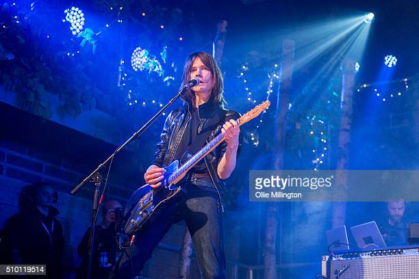 Neil Codling of Suede performs headlining day 2 of the BBC 6 Music Festival onstage at Motion on February 13 2016 in Bristol England