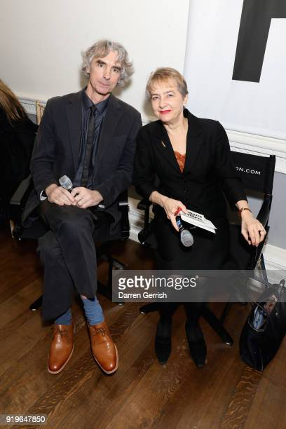 Neil Crumpton and Kate Hudson speak at the MATCHESFASHIONCOM X KATHARINE HAMNETT LFW SS18 event at ICA on February 17 2018 in London England