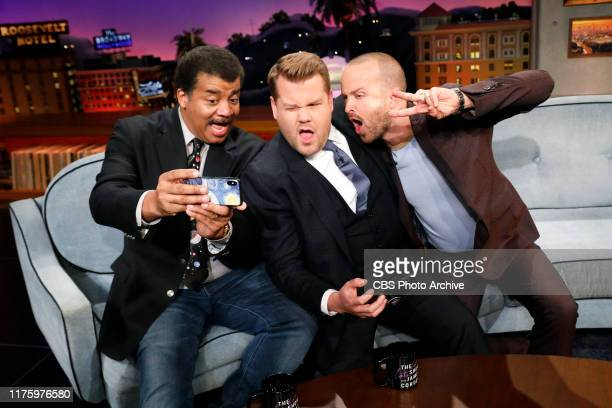 Neil deGrasse Tyson and Aaron Paul chat with James on THE LATE LATE SHOW WITH JAMES CORDEN, scheduled to air Thursday, October 10 2019 on the CBS...