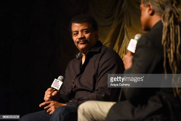 Neil deGrasse Tyson attends Film Independent at LACMA presents StarTalk A Conversation with Astrophysicist Neil deGrasse Tyson at Bing Theater At...