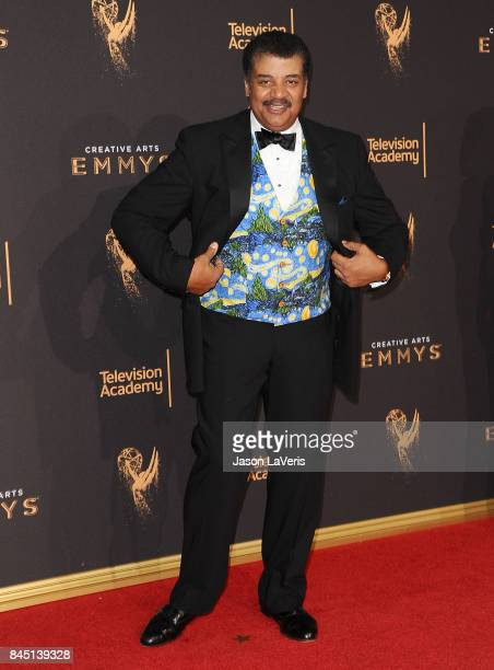 Neil deGrasse Tyson attends the 2017 Creative Arts Emmy Awards at Microsoft Theater on September 9 2017 in Los Angeles California