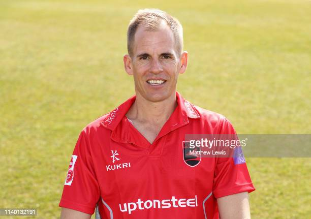 Neil Dexter of Leicestershire CCC pictured during the Leicestershire CCC Photocall at Grace Road on April 03 2019 in Leicester England