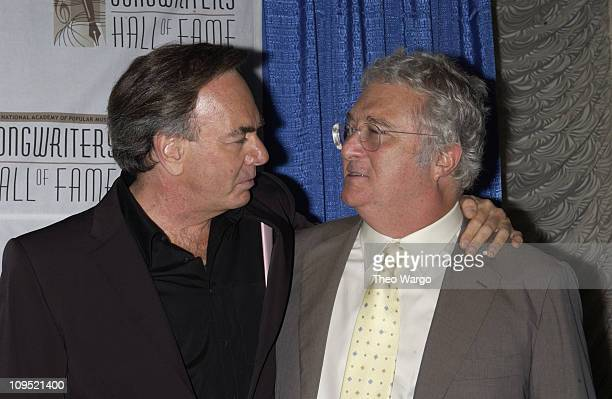 Neil Diamond and Randy Newman during Songwriters Hall of Fame Awards Press Room at Sheraton Towers in New York City New York United States