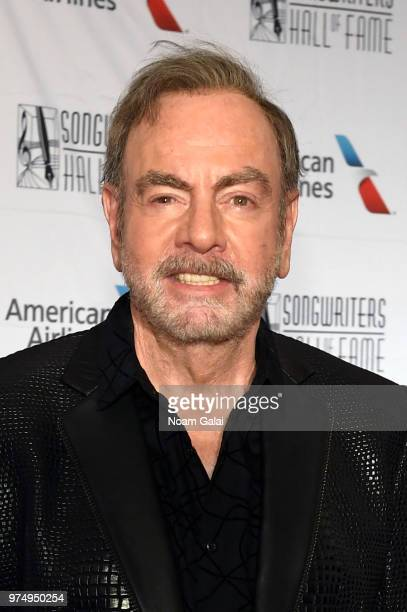 Neil Diamond attends the Songwriters Hall of Fame 49th Annual Induction and Awards Dinner at New York Marriott Marquis Hotel on June 14 2018 in New...