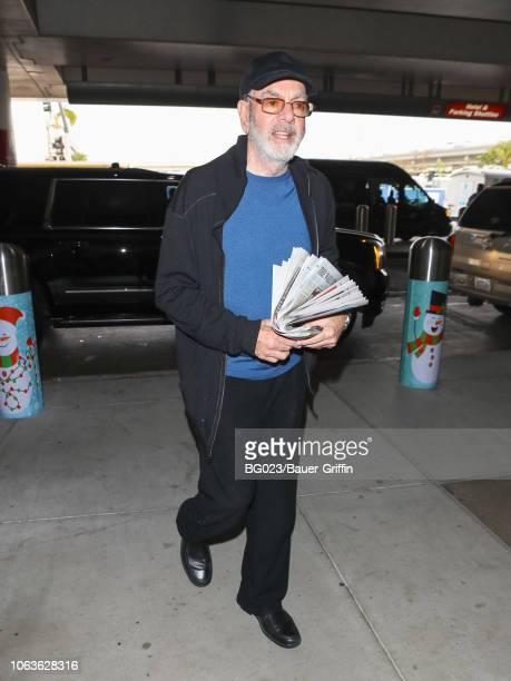 Neil Diamond is seen at Los Angeles International Airport on November 19 2018 in Los Angeles California