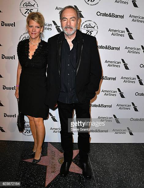 Neil Diamond Katie McNeil arrives at the Capitol Records 75th Anniversary Gala at Capitol Records Tower on November 15 2016 in Los Angeles California