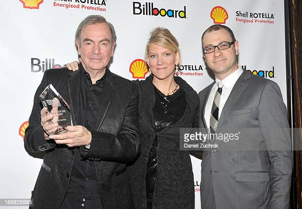 Neil Diamond Katie McNeil Diamond and Bill Werde attend the 2012 Billboard Touring Awards Reception at The Roosevelt Hotel on November 8 2012 in New...