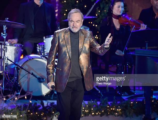Neil Diamond performs at the 84th Rockefeller Center Christmas Tree Lighting at Rockefeller Center on November 30 2016 in New York City